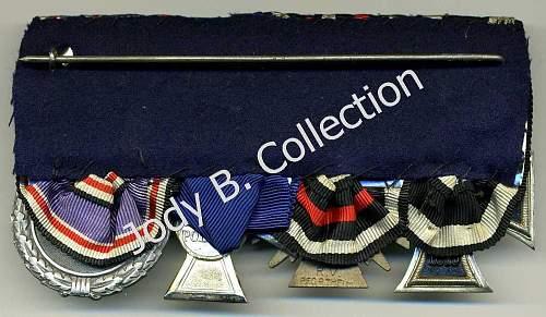 Police Long Service Medal Bars