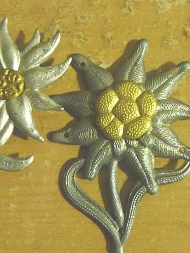 Click image for larger version.  Name:German EDELWEISS BADGE .jpg Views:289 Size:55.0 KB ID:69124