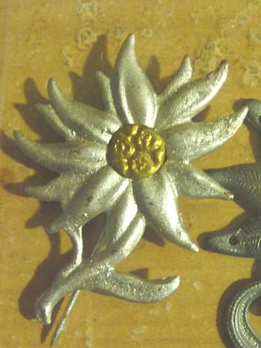 Click image for larger version.  Name:German EDELWEISS BADGE02.JPG Views:339 Size:234.5 KB ID:69125