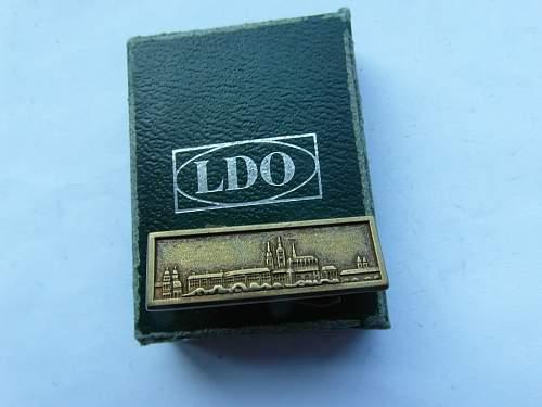 Spange zur Medaille zur Erinnerung an den 1. Oktober 1938 (fake?)