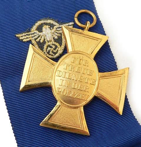 On Hold Polizei Dienstauszeichnung 1. Stufe (25 Jahre).