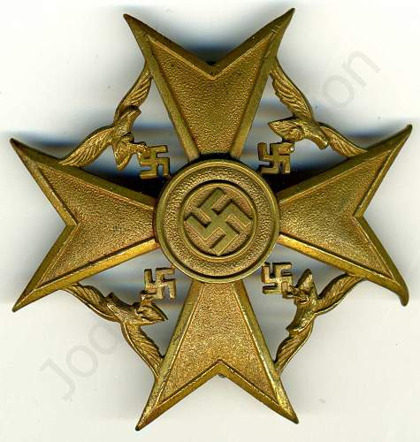 My Spanish Cross in Bronze with out Swords
