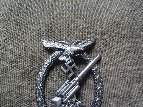 luftwaffe flak abzeichen real or fake?