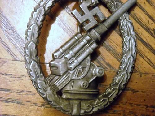 Flakkampfabzeichen der Luftwaffe, unmarked Deumer