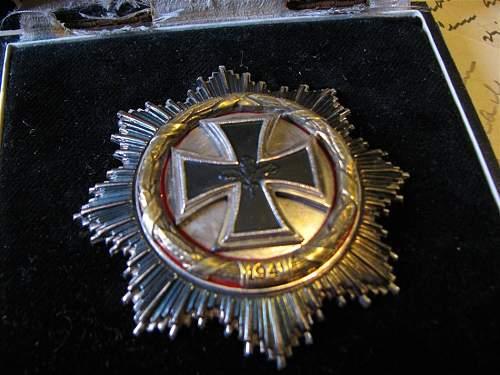 German cross in gold real or fake