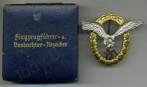 My Gemeinsames Flugzeugfuhrer-Beobachter Abzeichen