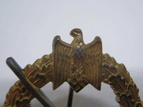 My new Kriegsabzeichen fur die Marine-Artillerie
