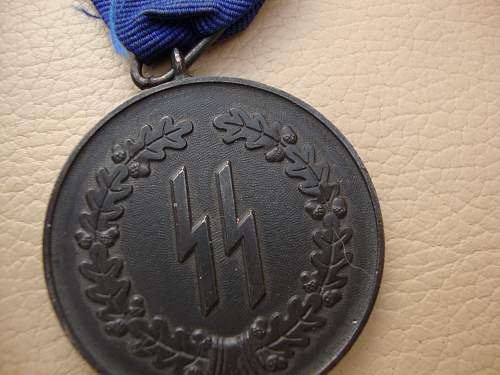 SS 4 year service medal - Opinions please