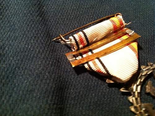 Spanish blue division volunteers medal - broken in post - ideas..