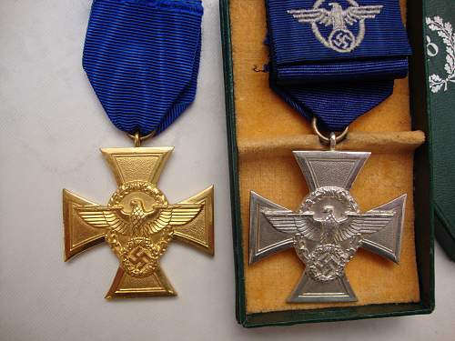 My 2 Police Long Service crosses