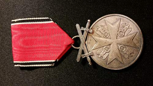 Order of the german eagle medal of merit with swords
