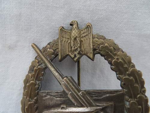 Kriegsabzeichen fur die Marine-Artillerie