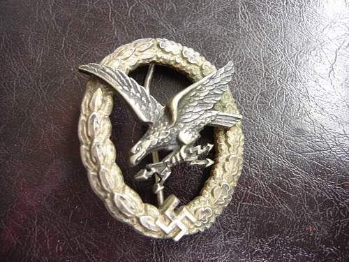 Luftwaffe Badge - real or not? HELP!