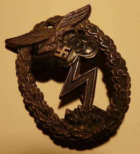 LW Flak and ground assault badge- original?
