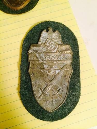 Demjansk Shield - original ?