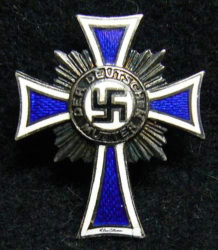 Ehrenkreuz der Deutsche Mutter Zweite Stufe, Half Size, Pin Back