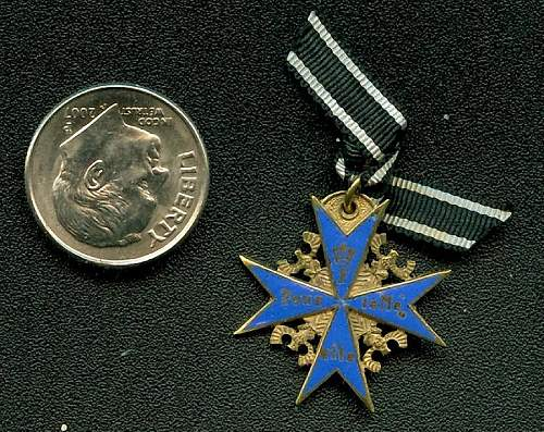 Authentic Godet made POURE LE MERIT pin?