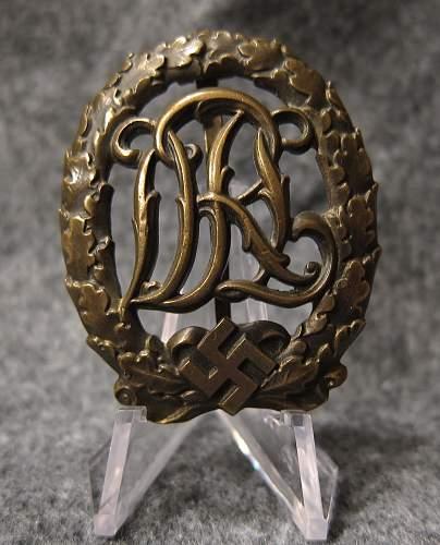 DRL Sportabzeichen in Bronze, Ferd.Wagner