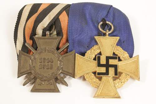 two place medal bar
