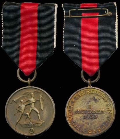 Die Medaille zur Erinnerung an den 1. Oktober 1938