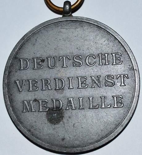 Silberne Verdienstmedaille der Deutschen Adlerodern