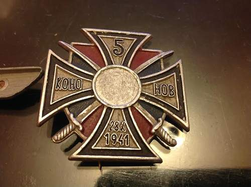 5th Don Cossack Badge - De-Nazified