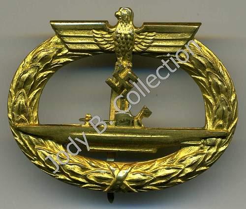 Help! U-boot Kriegsabzeichen.