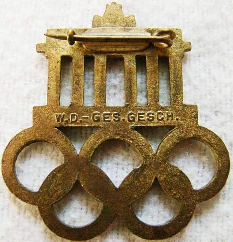Other 1936 Berlin Pin - For Your Review