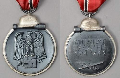 "Medaille ""Winterschlacht im Osten 1941/42"" (Ostmedaille) - ""51"" Eduard Görlach & Söhne"