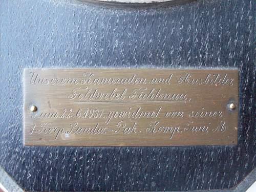 Artillery Plaque/Award?