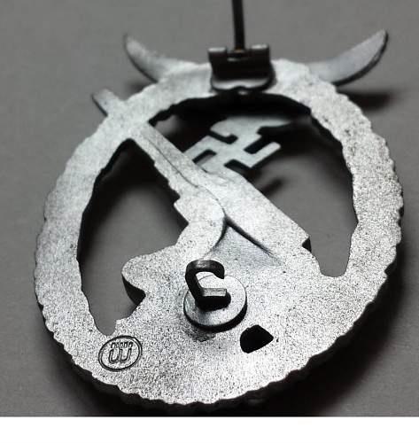 Flakkampfabzeichen der Luftwaffe-marked wiedmann