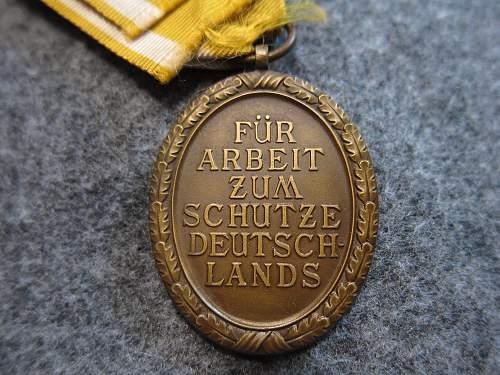 Westwall Medal (Deutsche Schutzwall Ehrenzeichen)