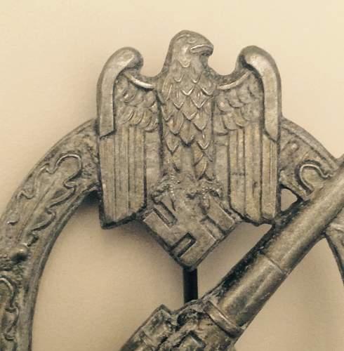 Heeres-Flak Abzeichen in silber Unmarked