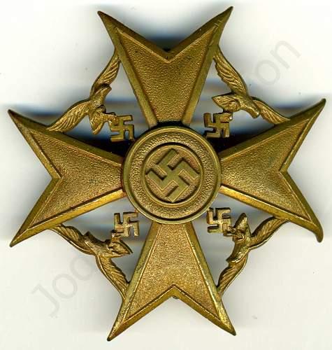 Spanienkreuz in Bronze Opinions