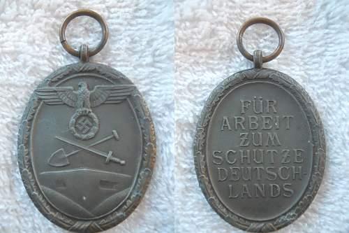 Deutsches Schutzwall-Ehrenzeichen/Westwall Medal