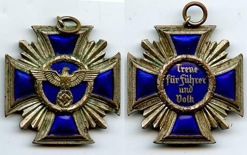NSDAP cross 25 years