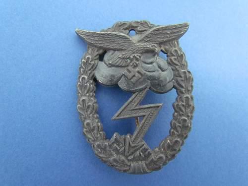 Erdkampfabzeichen der Luftwaffe?