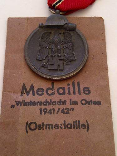 Ostmedaille and packet not matching