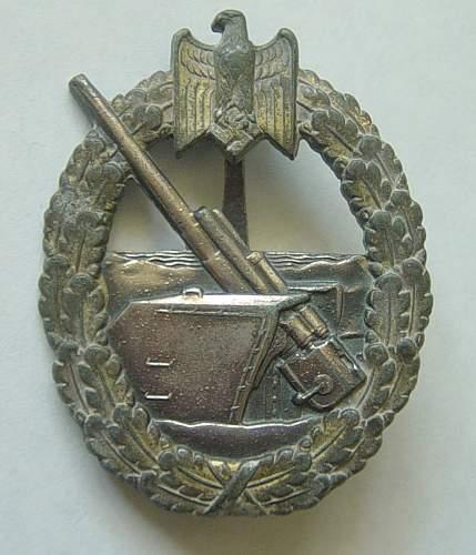 Click image for larger version.  Name:Coastal Artillery war badge.jpg Views:67 Size:149.6 KB ID:78854
