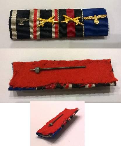 Ribbon bars, real or fake