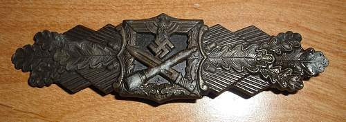 Close Combat Badge BRONZE Opinions please!  thanks!!