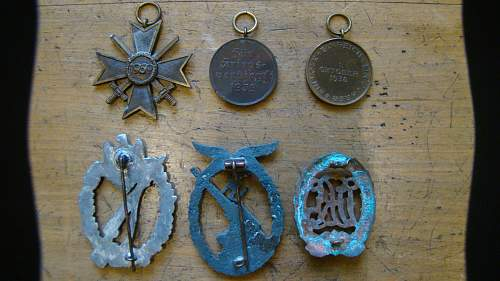 dug unknown medals from russia