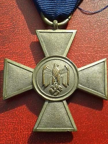 Dienstauszeichnung der Wehrmacht 1. Klasse,25 Jahre