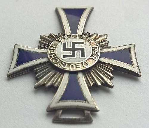Mutterkreuz Bronze & Silver