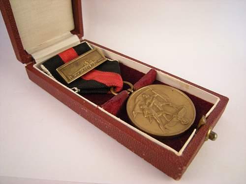 Spange zur Medaille zur Erinnerung an den 1. Oktober 1938