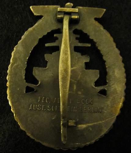 Kriegmarime Badges