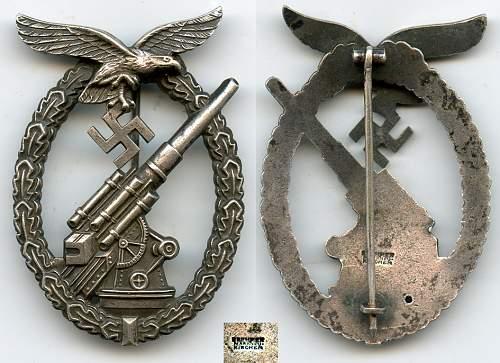 Flakkampfabzeichen der Luftwaffe by Brehmer.