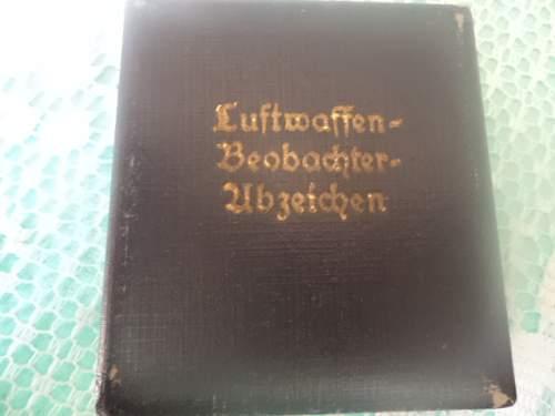 Luftwaffe Beobachterabzeichen