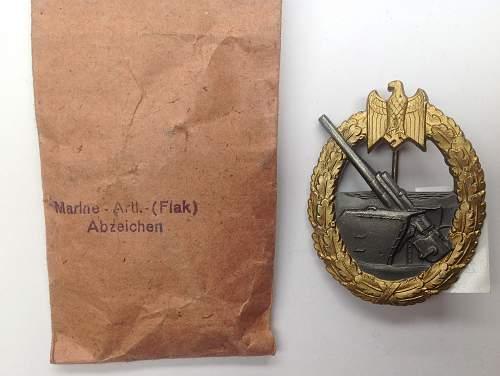 Click image for larger version.  Name:Kriegsabzeichen fur die Marine-Artillerie - Coastal Artillery War Badge.jpg Views:46 Size:222.1 KB ID:818178