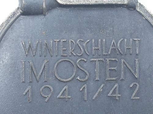 """New Medaille """"Winterschlacht im Osten 1941/42"""" (Ostmedaille)"""